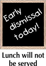 Early dismissal on March 9th for conferences